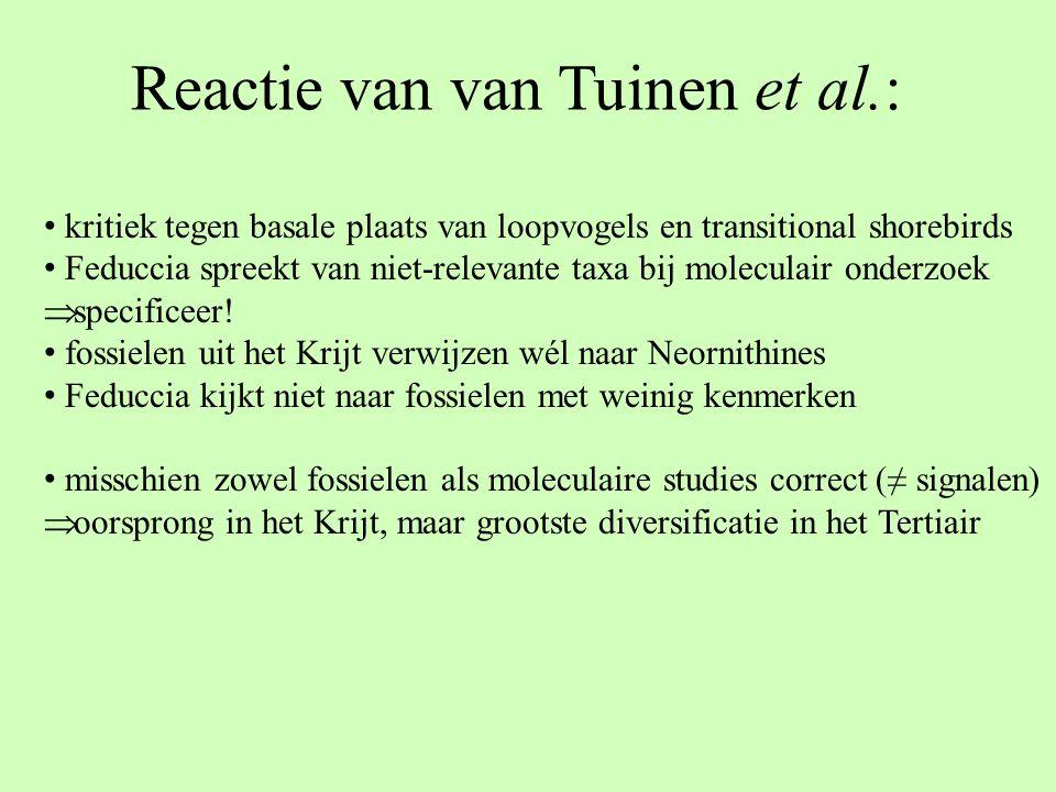 Reactie van van Tuinen et al.: