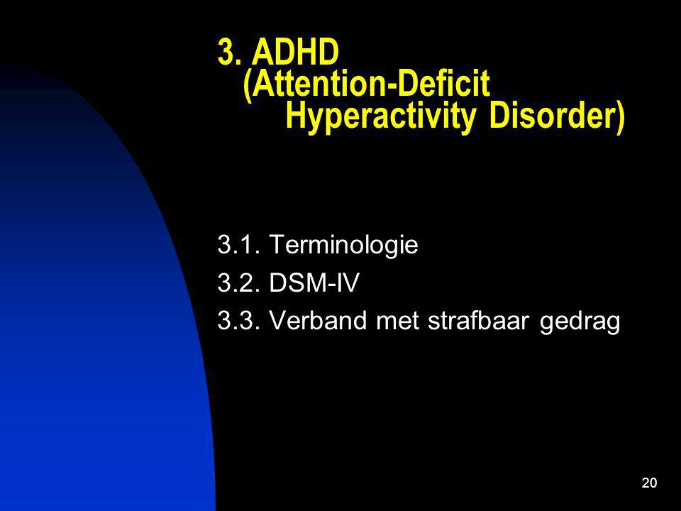 3. ADHD (Attention-Deficit Hyperactivity Disorder)
