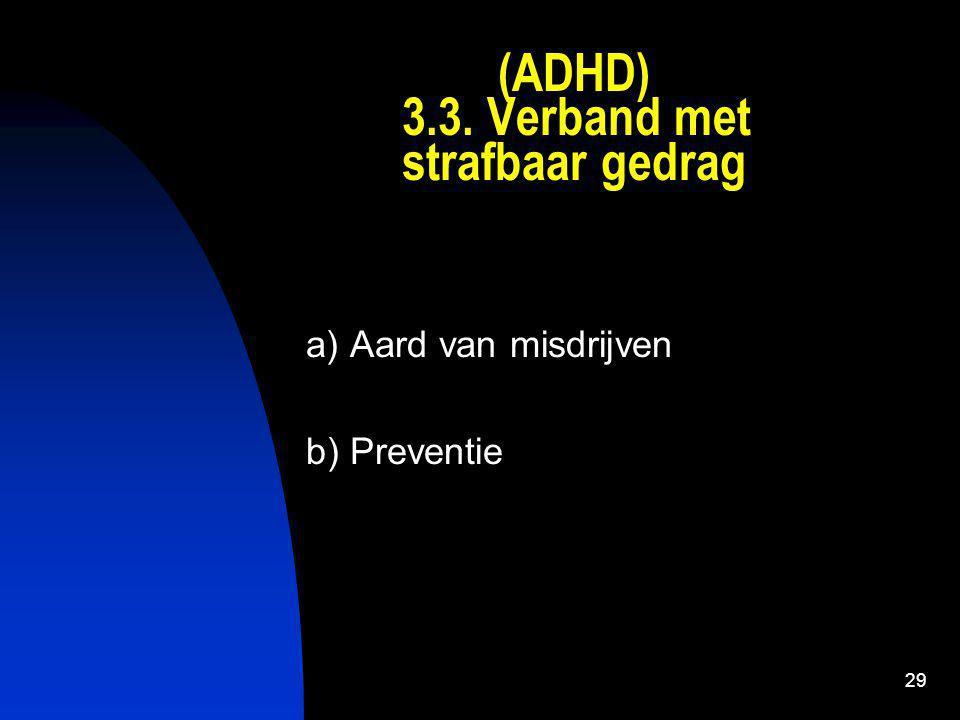 (ADHD) 3.3. Verband met strafbaar gedrag
