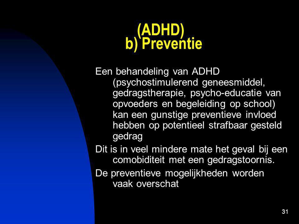 (ADHD) b) Preventie