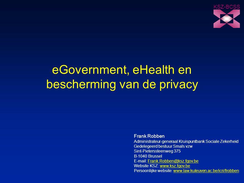 eGovernment, eHealth en bescherming van de privacy
