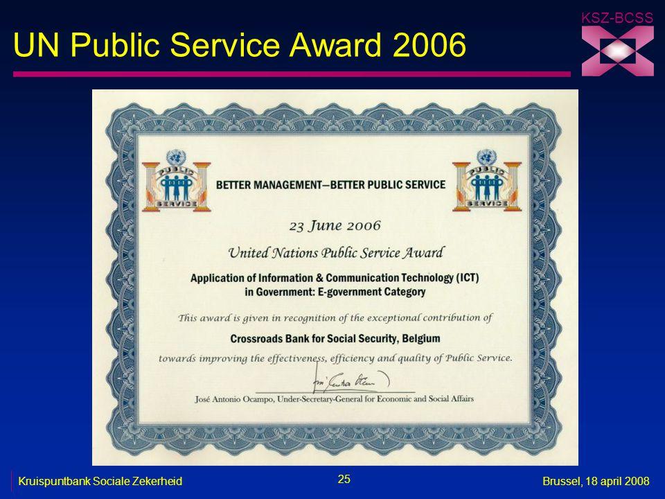 UN Public Service Award 2006