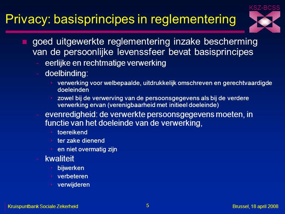 Privacy: basisprincipes in reglementering
