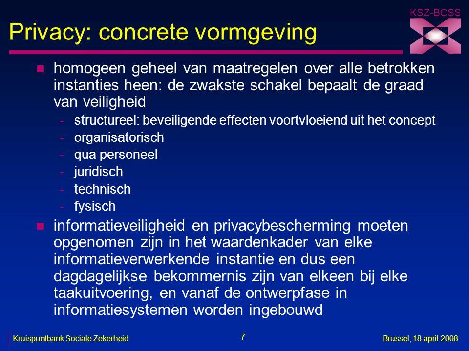Privacy: concrete vormgeving