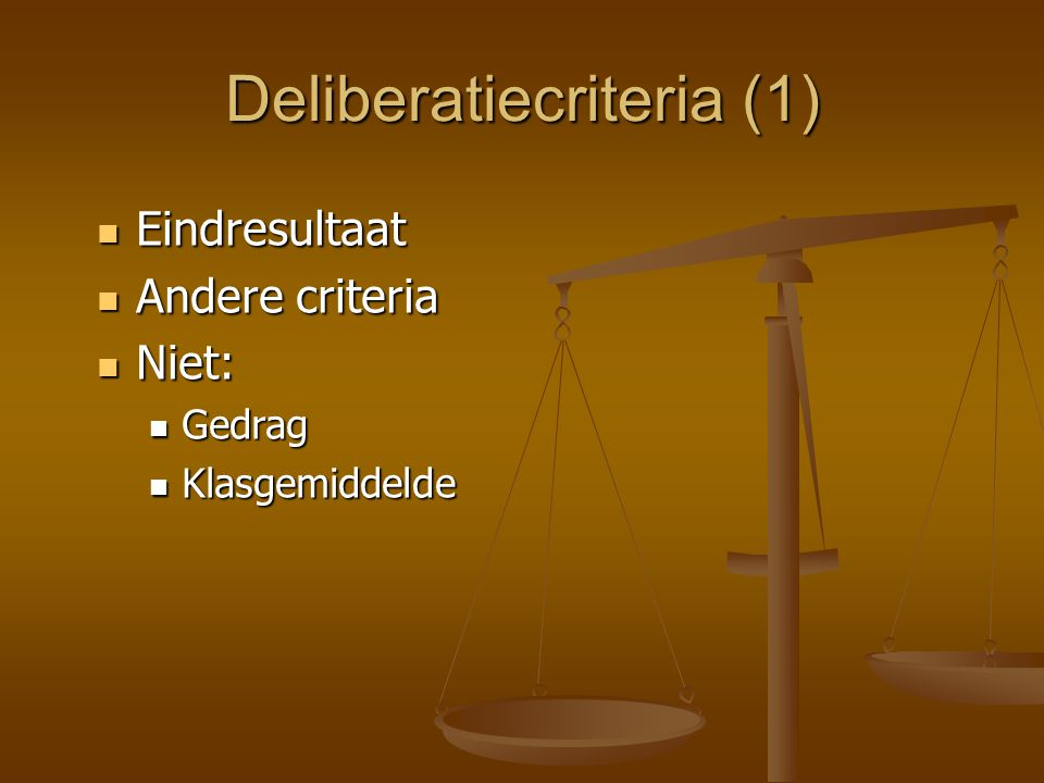Deliberatiecriteria (1)