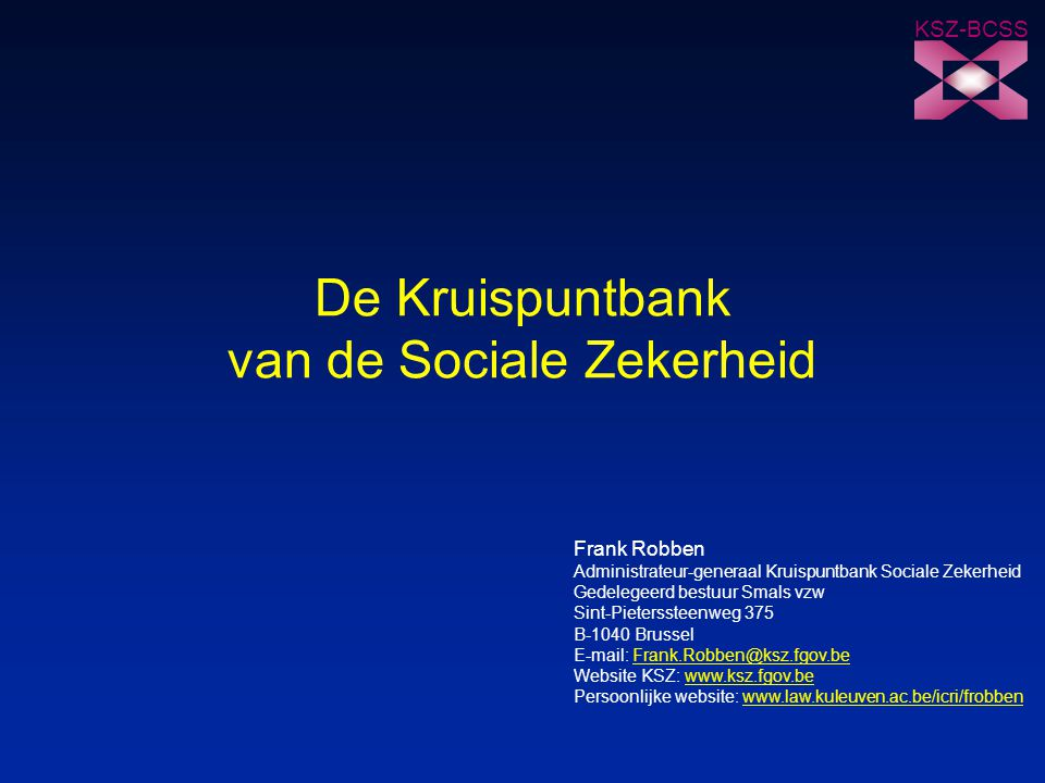 De Kruispuntbank van de Sociale Zekerheid