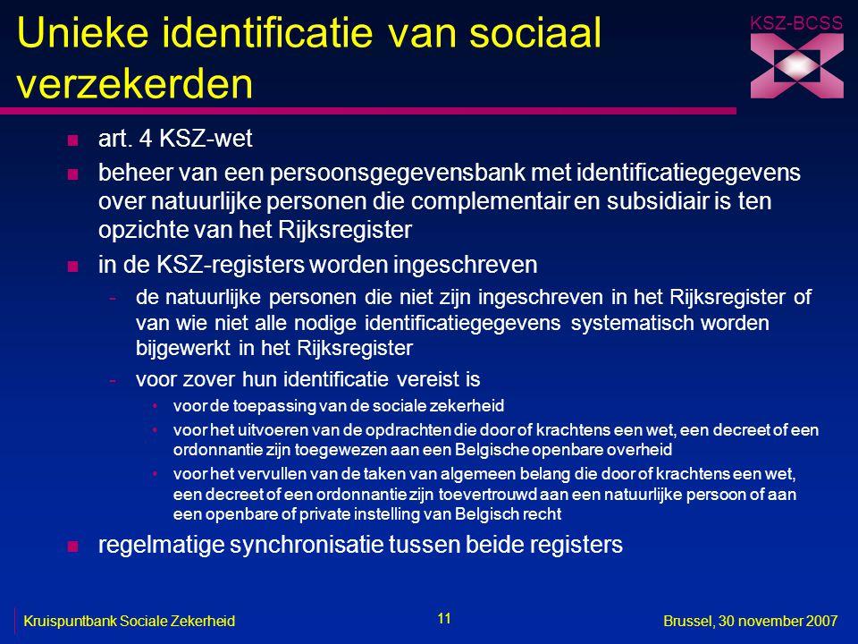 Unieke identificatie van sociaal verzekerden