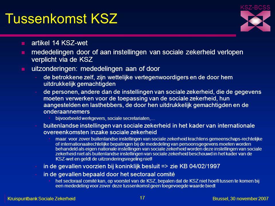 Tussenkomst KSZ artikel 14 KSZ-wet
