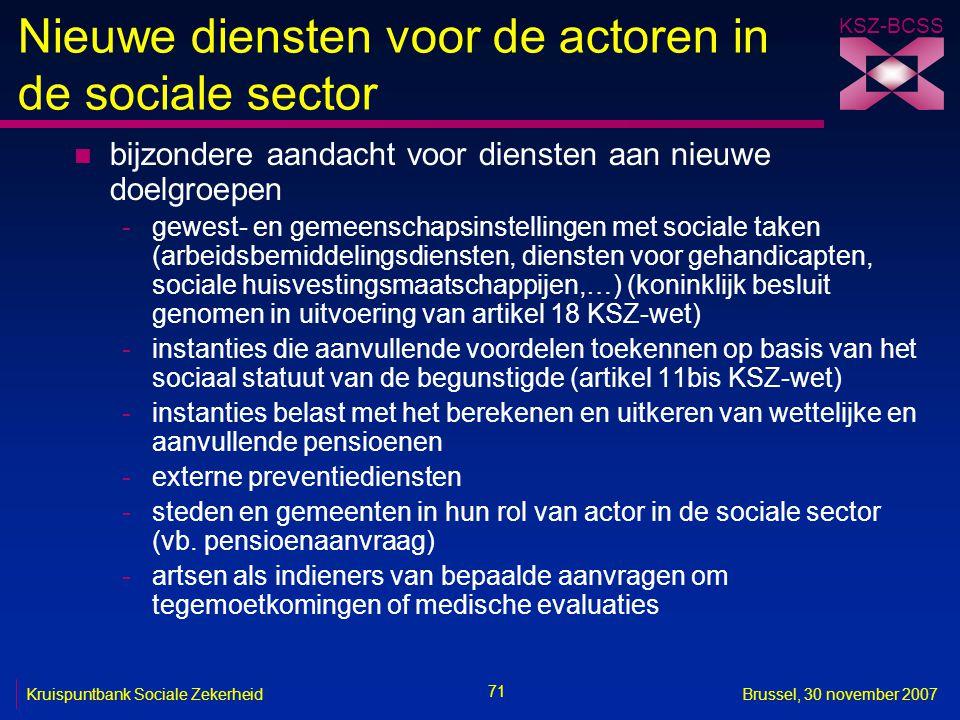 Nieuwe diensten voor de actoren in de sociale sector
