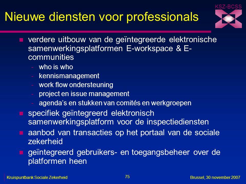 Nieuwe diensten voor professionals