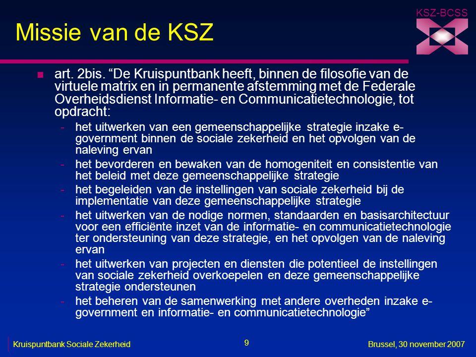 Missie van de KSZ