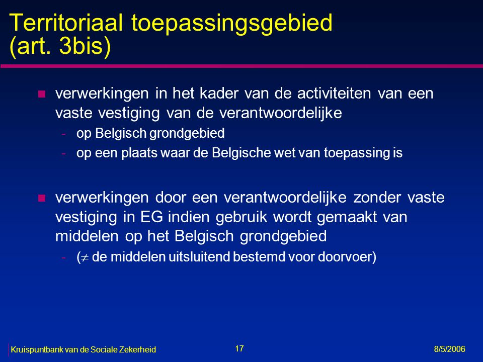 Territoriaal toepassingsgebied (art. 3bis)