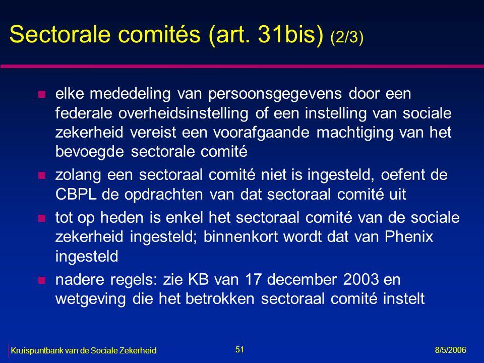 Sectorale comités (art. 31bis) (2/3)