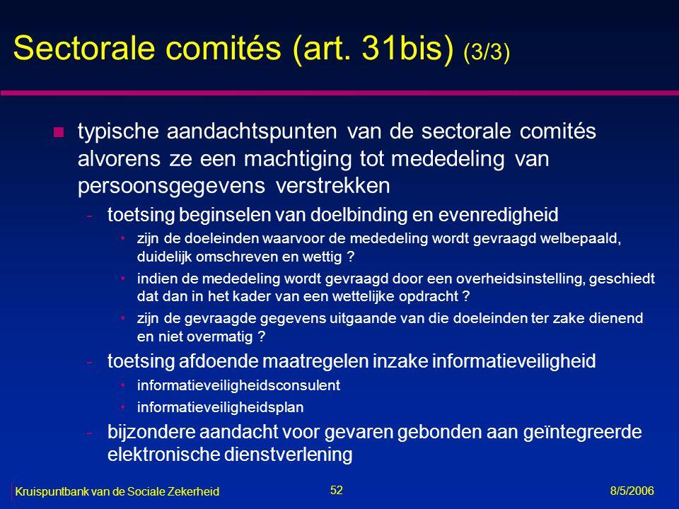 Sectorale comités (art. 31bis) (3/3)