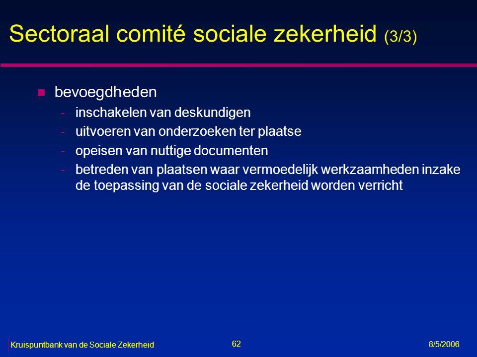 Sectoraal comité sociale zekerheid (3/3)