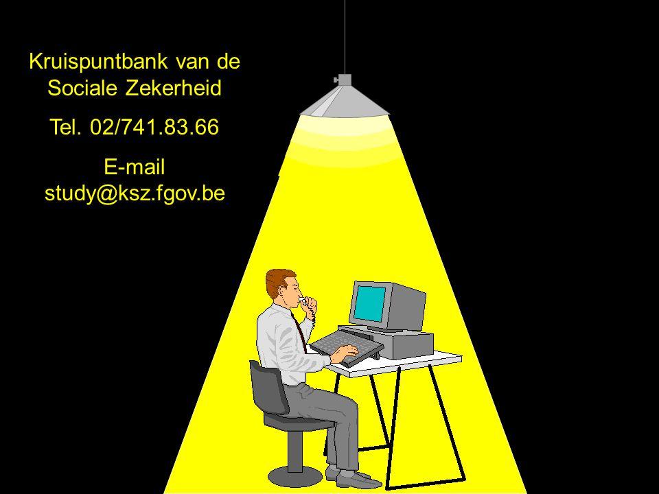 Kruispuntbank van de Sociale Zekerheid Tel. 02/741.83.66
