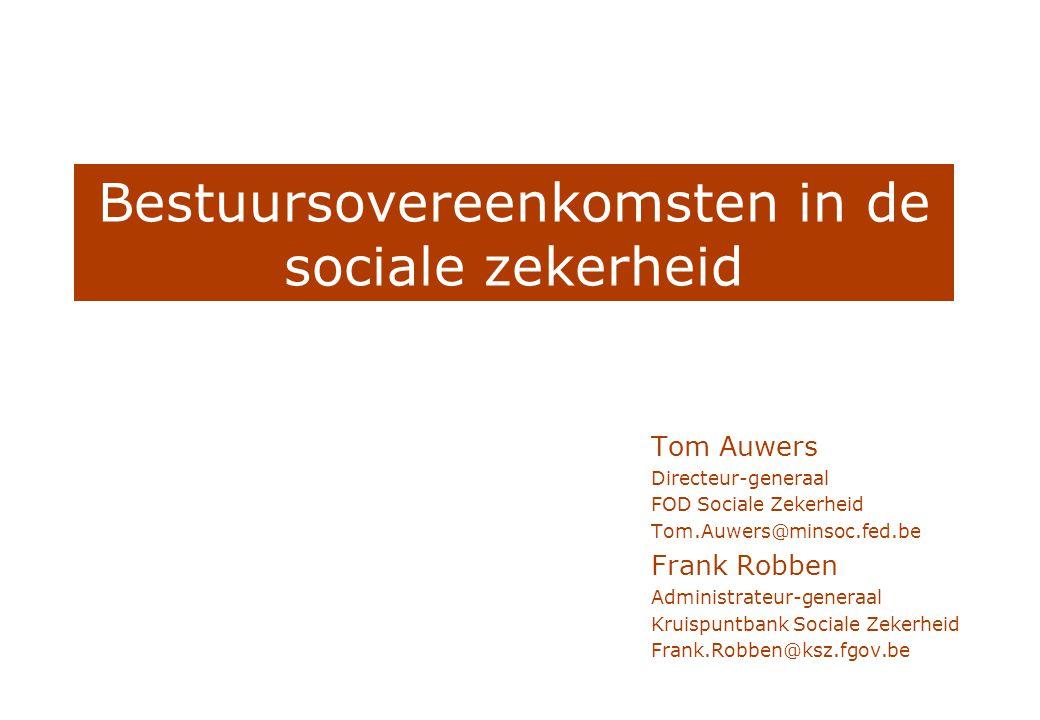 Bestuursovereenkomsten in de sociale zekerheid