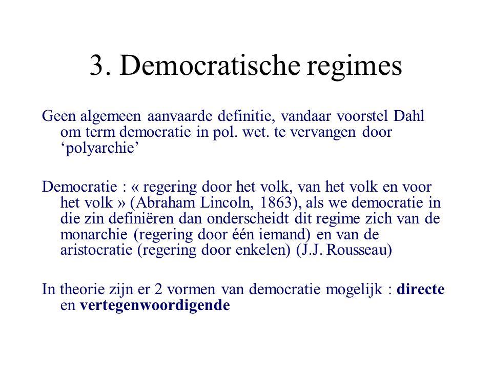 3. Democratische regimes