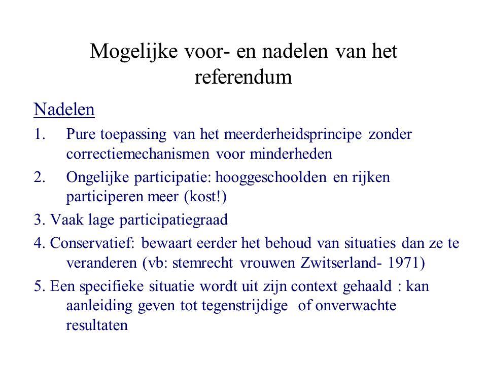 Mogelijke voor- en nadelen van het referendum