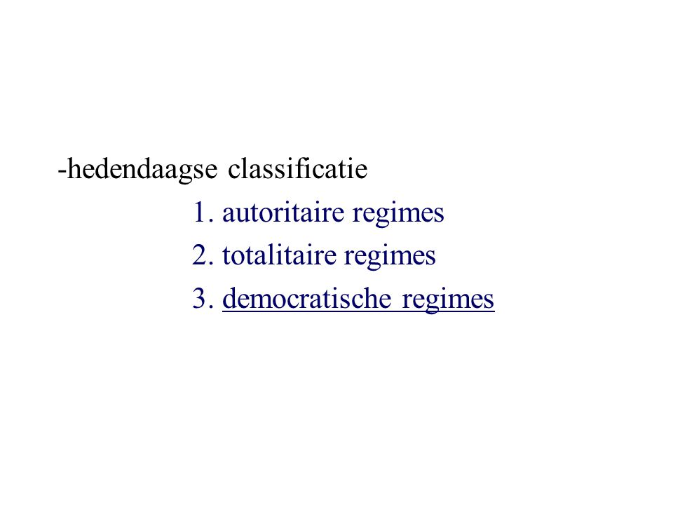 -hedendaagse classificatie