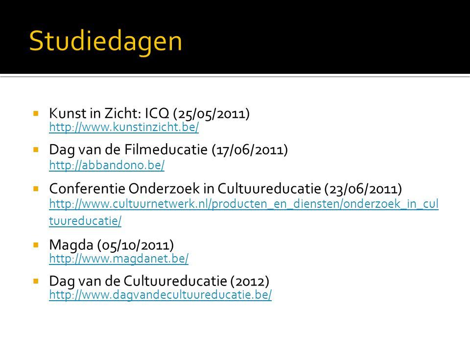 Studiedagen Kunst in Zicht: ICQ (25/05/2011)