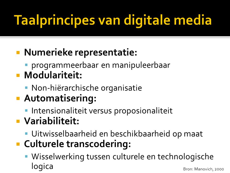Taalprincipes van digitale media