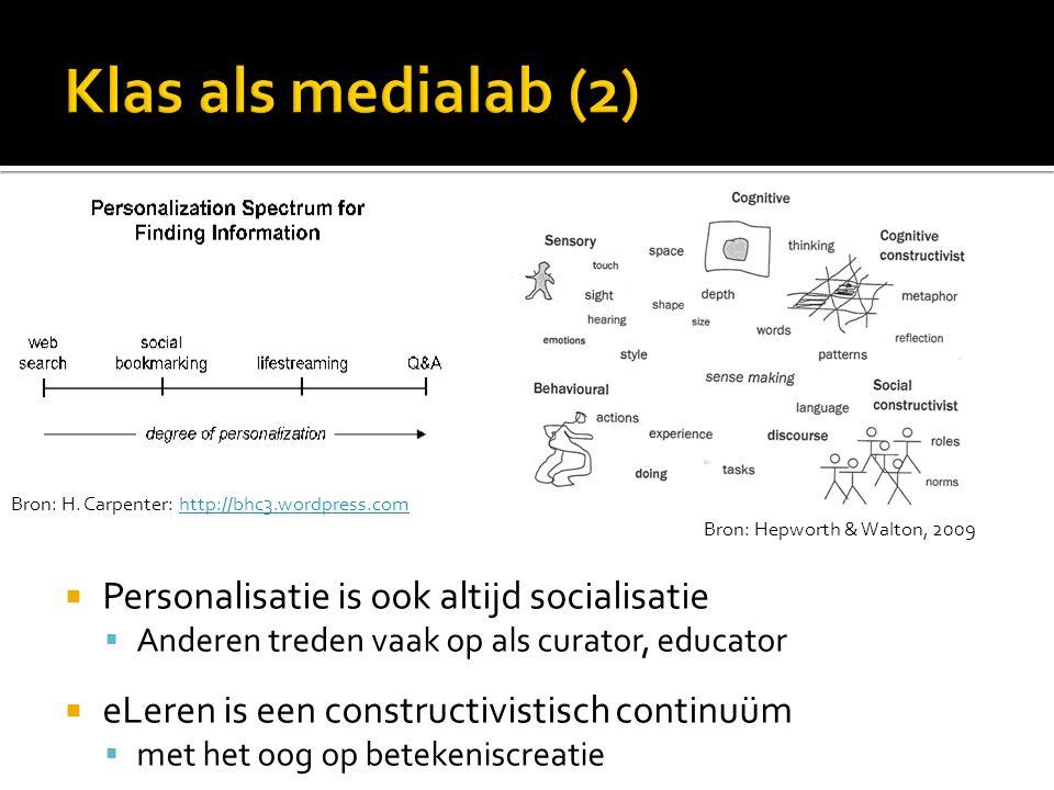 Klas als medialab (2) Personalisatie is ook altijd socialisatie