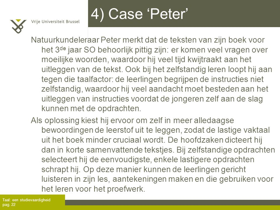4) Case 'Peter'