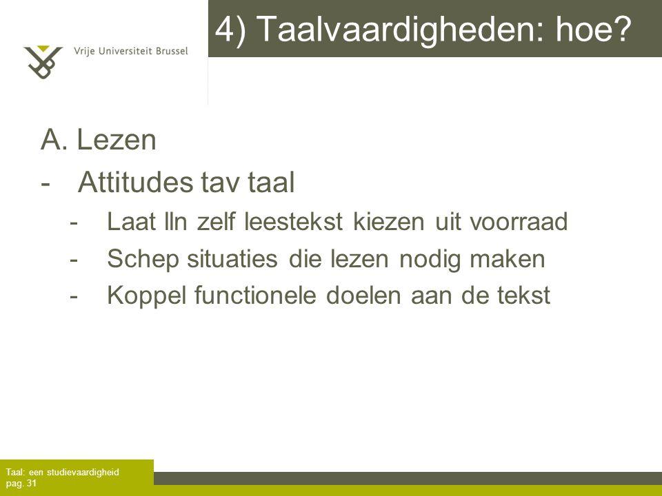 4) Taalvaardigheden: hoe
