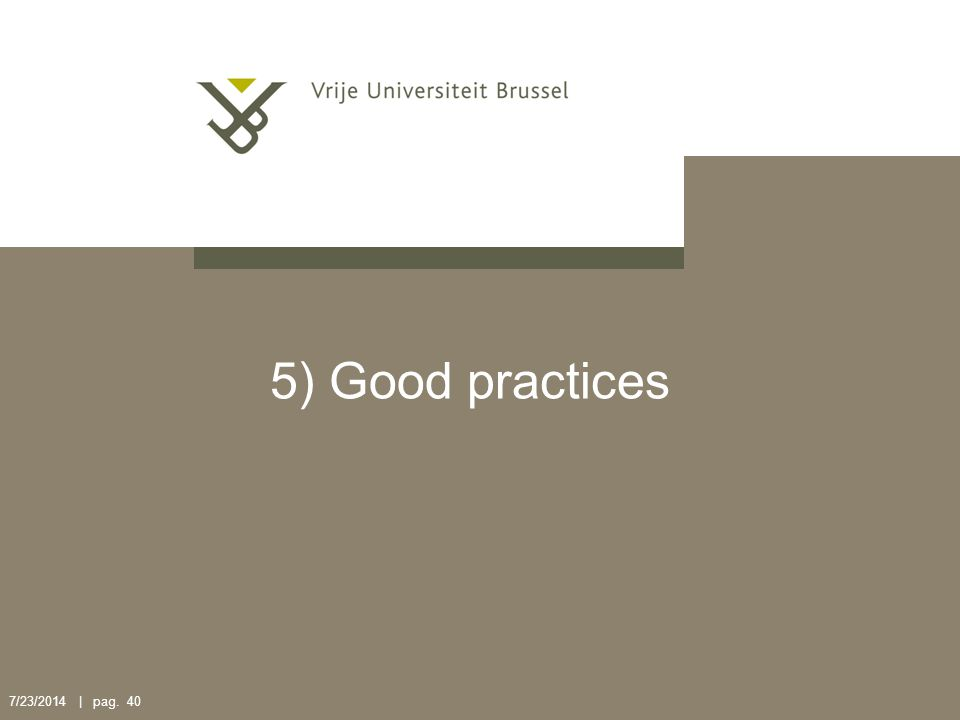 5) Good practices 4/4/2017 | pag. 40