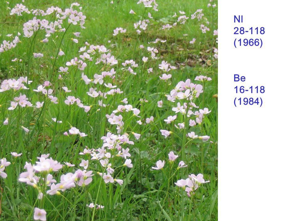 Nl 28-118 (1966) Be 16-118 (1984) Cardamine pratensis