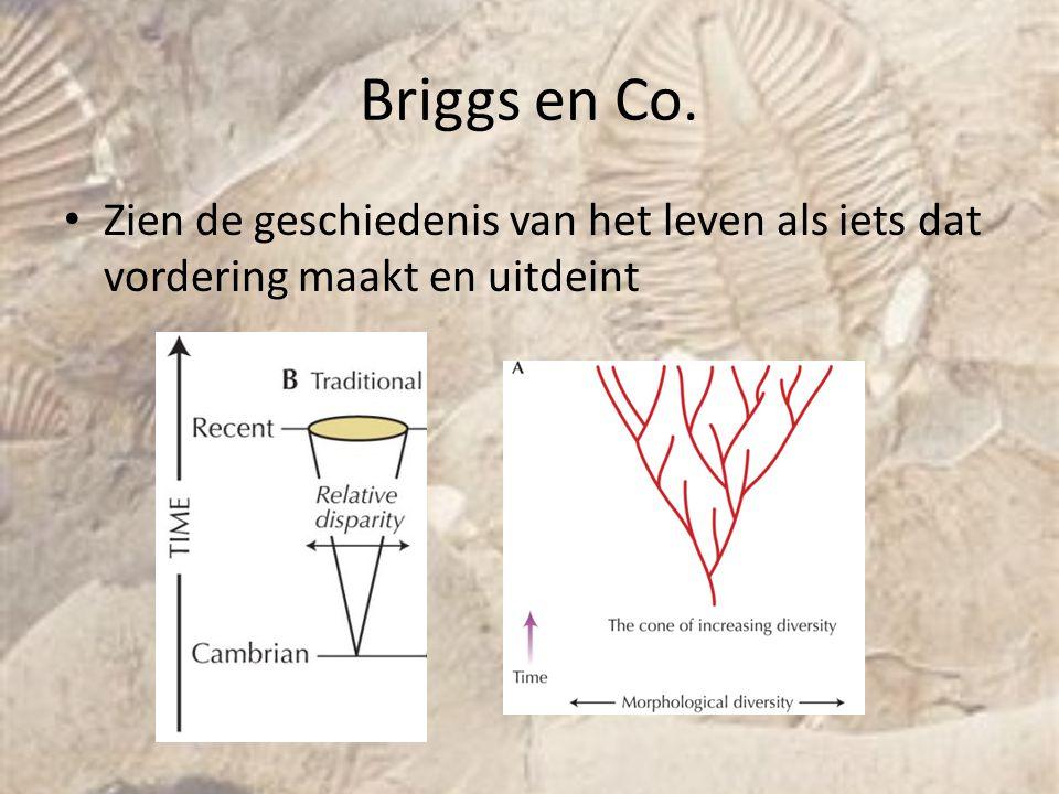 Briggs en Co. Zien de geschiedenis van het leven als iets dat vordering maakt en uitdeint. Jeroen.