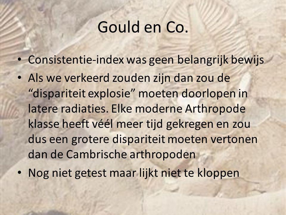 Gould en Co. Consistentie-index was geen belangrijk bewijs