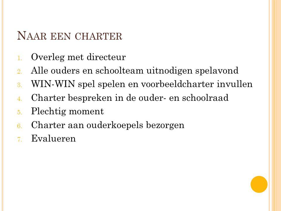 Naar een charter Overleg met directeur