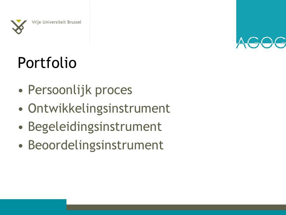 Portfolio Persoonlijk proces Ontwikkelingsinstrument