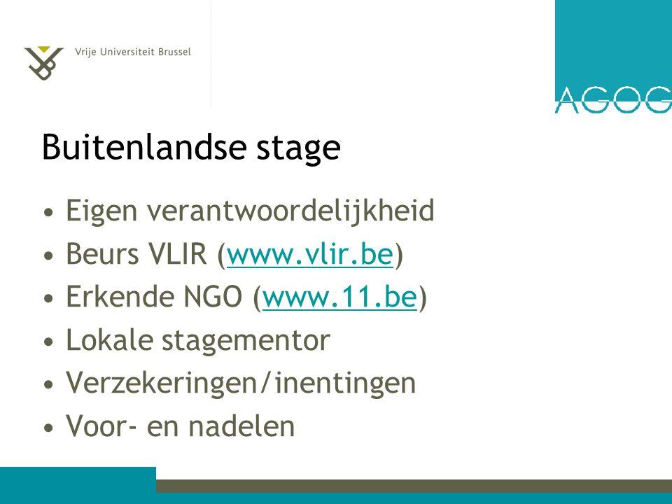 Buitenlandse stage Eigen verantwoordelijkheid Beurs VLIR (www.vlir.be)