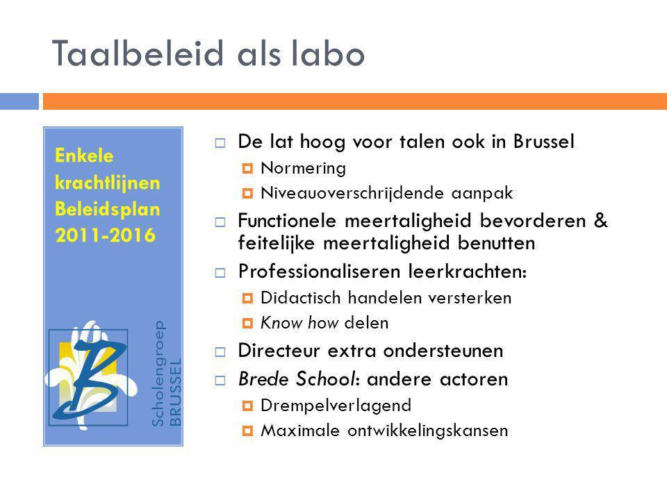 Taalbeleid als labo De lat hoog voor talen ook in Brussel