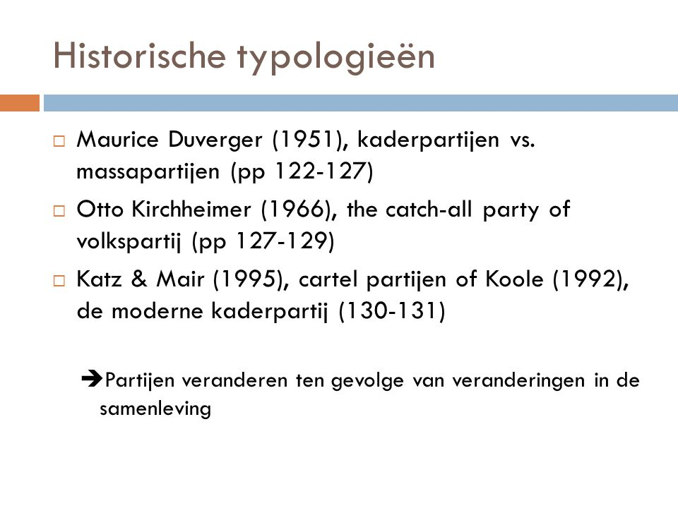 Historische typologieën
