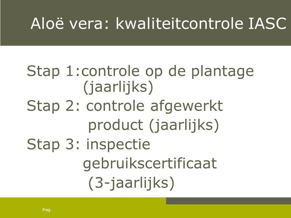 Aloë vera: kwaliteitcontrole IASC