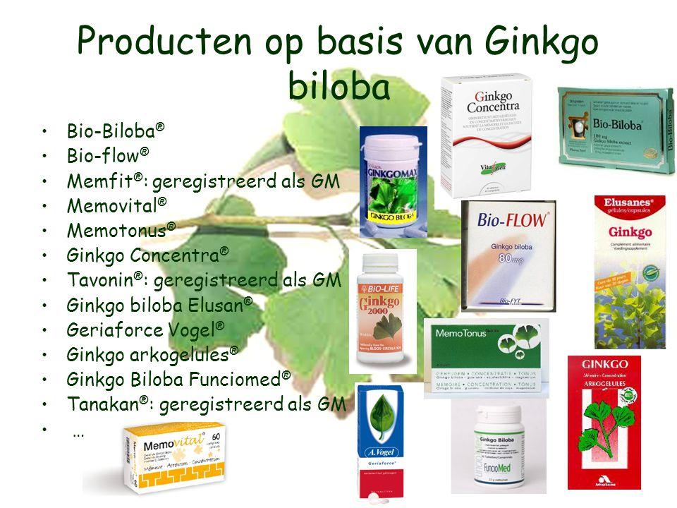 Producten op basis van Ginkgo biloba