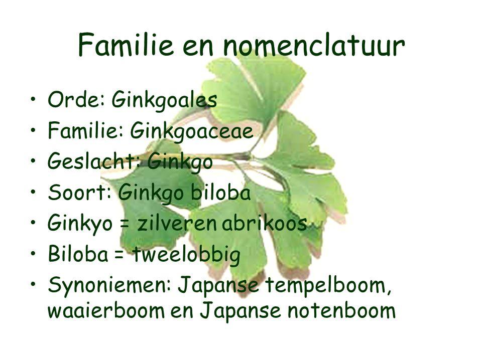 Familie en nomenclatuur
