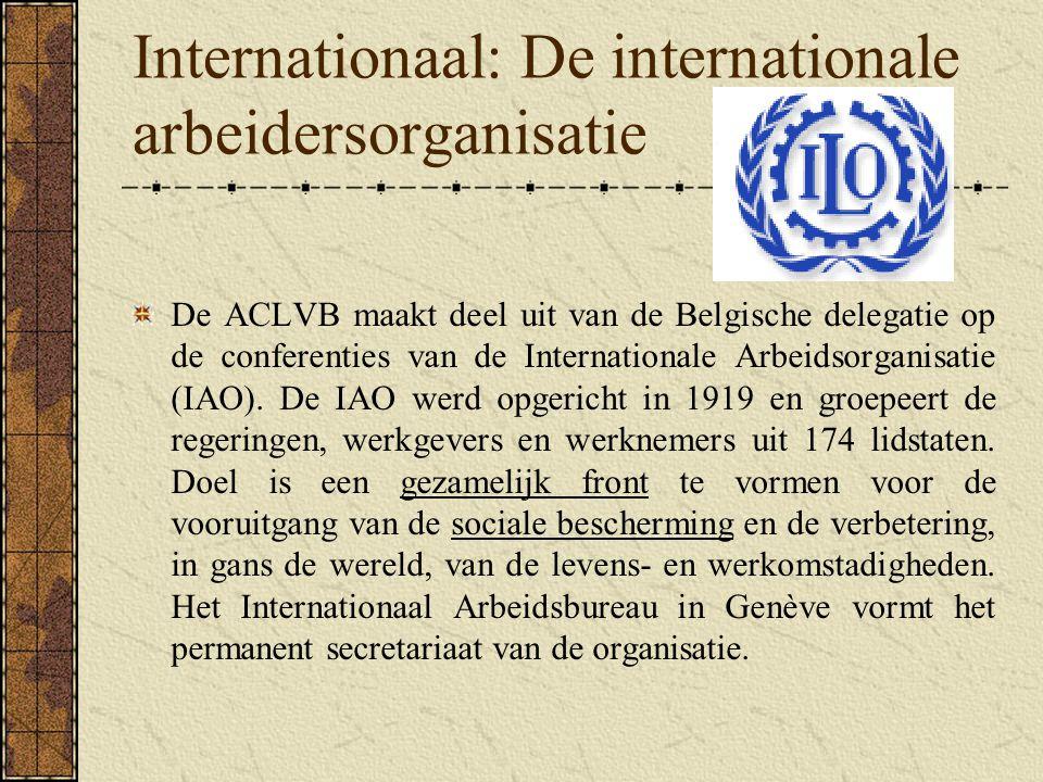 Internationaal: De internationale arbeidersorganisatie
