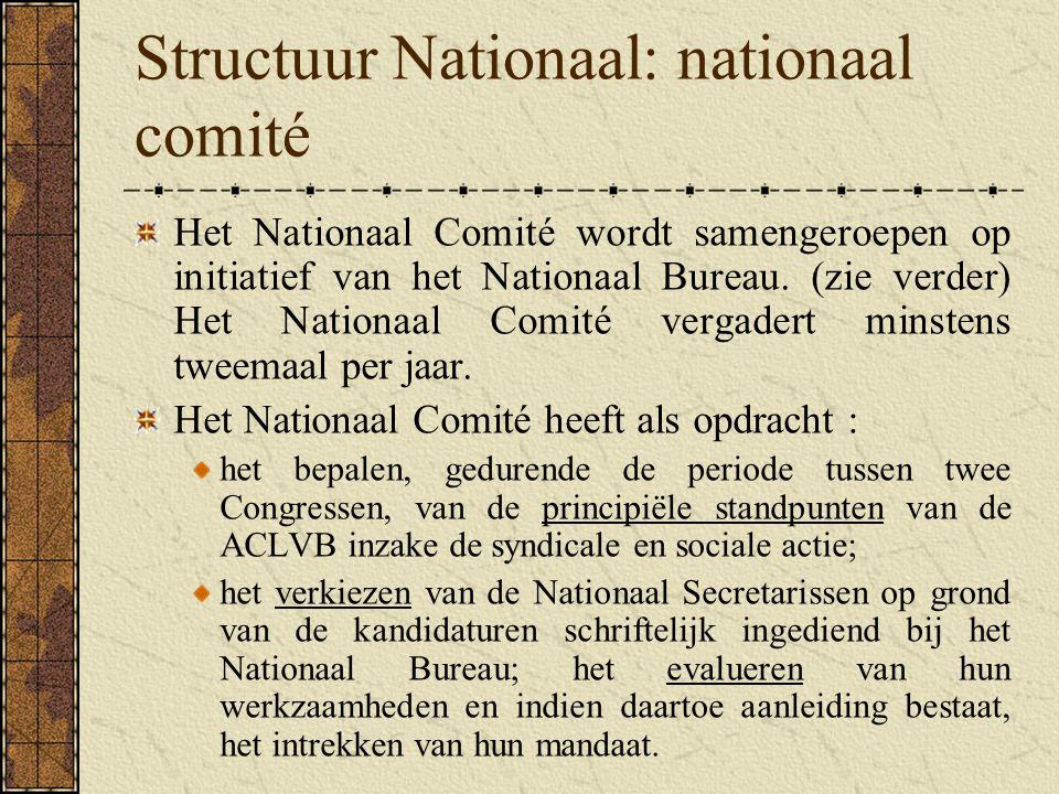 Structuur Nationaal: nationaal comité
