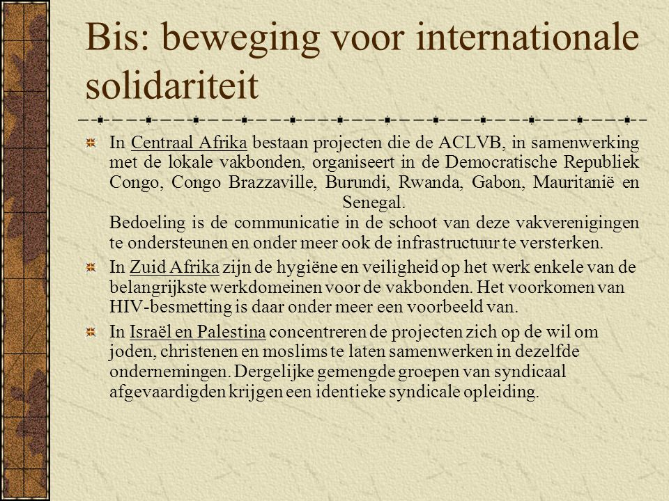 Bis: beweging voor internationale solidariteit