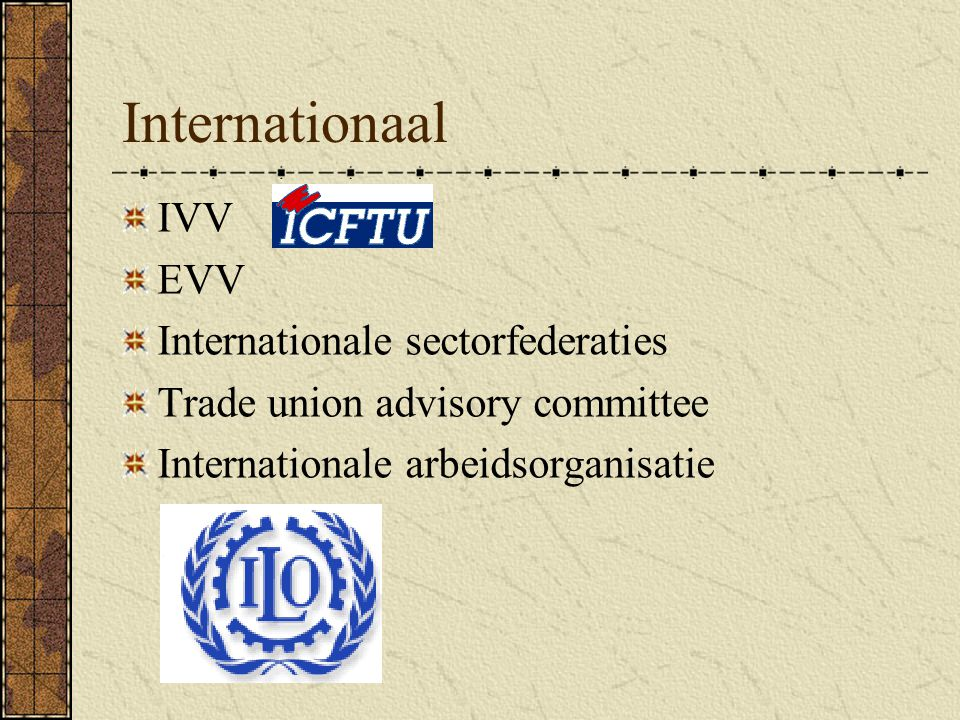 Internationaal IVV EVV Internationale sectorfederaties