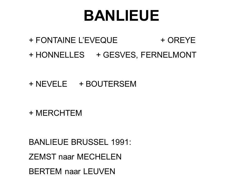 BANLIEUE + FONTAINE L'EVEQUE + OREYE + HONNELLES + GESVES, FERNELMONT
