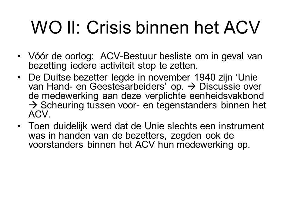 WO II: Crisis binnen het ACV