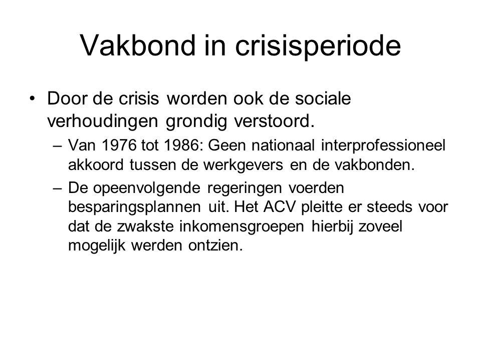 Vakbond in crisisperiode