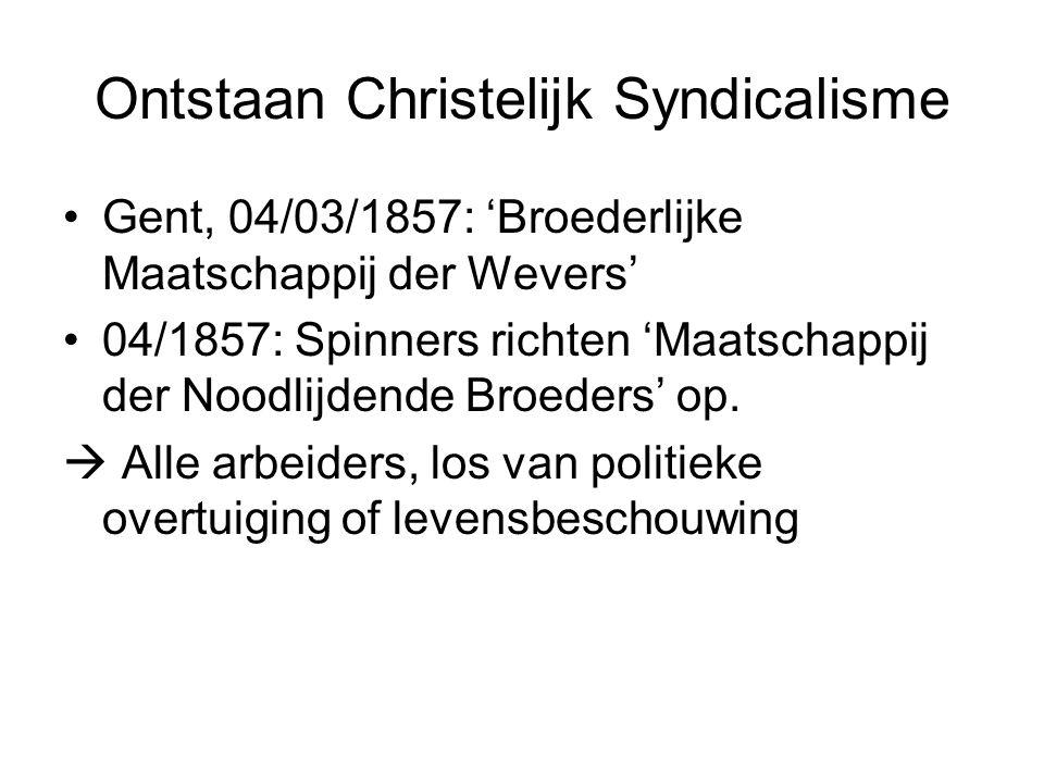 Ontstaan Christelijk Syndicalisme