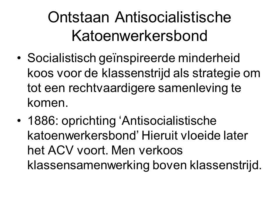 Ontstaan Antisocialistische Katoenwerkersbond